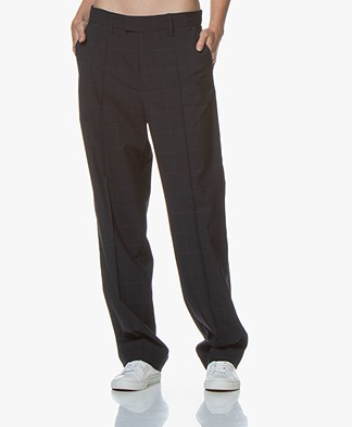 Zadig & Voltaire Peter Checkered Pants - Navy