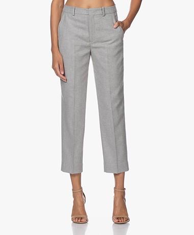 Drykorn Study Duurzame Wolmix Cropped Pantalon - Grijs