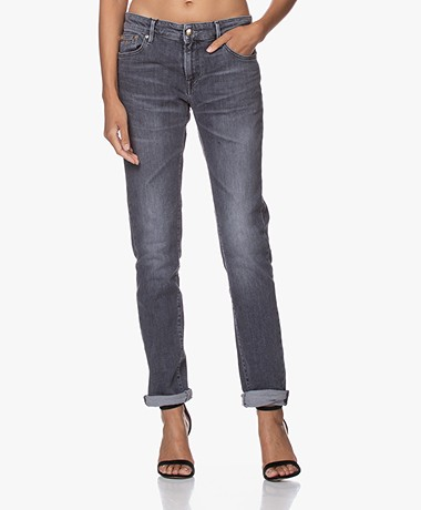 Denham Monroe Grpb Girlfriend Fit Jeans - Mid-grey