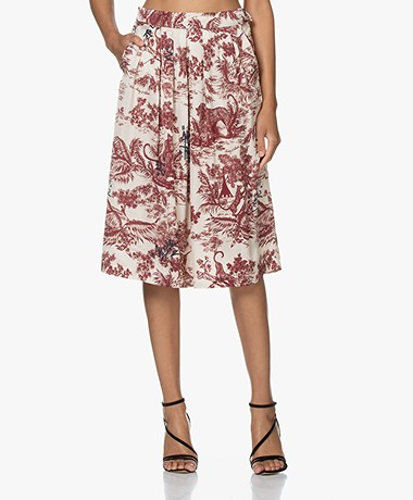 Zadig & Voltaire Jude Jouy Printed Satin Skirt - Toile