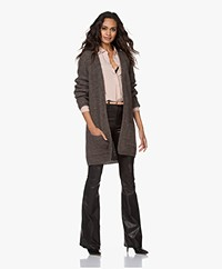 by-bar Veneto Mid-length Open Rib Cardigan - Brownie