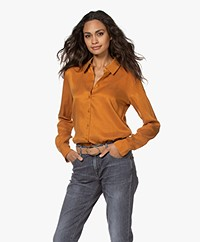 Denham Jessie Cupro Blend Blouse - Thai Curry
