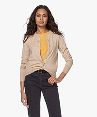 extreme cashmere N°94 Little Cashmere Cardi Vest - Beige