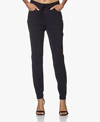 JapanTKY Romy Travel Jersey Slim-fit Pants - Black Blue