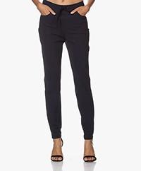 JapanTKY Romy Travel Jersey Slim-fit Broek - Zwartblauw