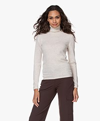 Resort Finest Cashmeremix Turtleneck Sweater - Warm Sand