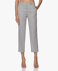 Drykorn Study Sustaianble Wool Blend Cropped Pants - Grey