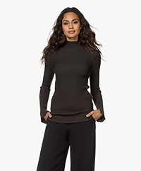 By Malene Birger Cissus Ribbed Funnel Neck Sweater - Hunt