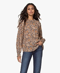 by-bar Gaby Sun Flower Print Blouse - Indigo/Multi