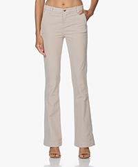 by-bar Leila Velvet Twill Flared Pants - Silver Stone