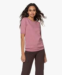 JapanTKY Kie Short Sleeve Sweater - Warm Pink