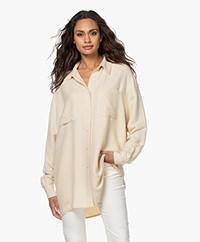 American Vintage Vimbow Oversized Viscose Overhemd - Ecru