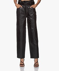 Les Coyotes De Paris Dawn Leather Pants - Black
