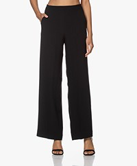Pomandère Crepe Straight-leg Pants - Black