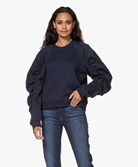 By Malene Birger Carice Sweater met Pofmouwen - Night Sky