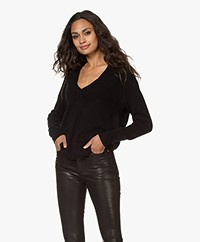 Equipment Madalene Cashmere V-Neck Sweater - True Black