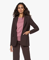 JapanTKY Yuu Tailored Blazer - Dark Brown