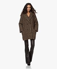 ba&sh Arty Checkered Double-breasted Coat - Caramel