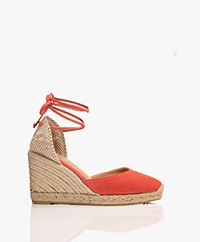 Castaner Carina Suede Leather Wedge Espadrilles - Granada