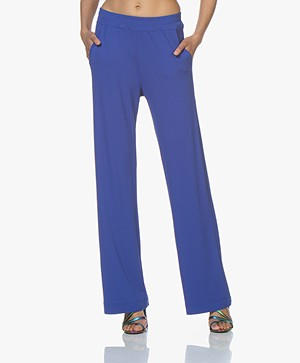 no man's land Crepe Jersey Pants - Royal Blue