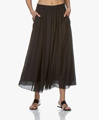 Pomandère Silk Blend Maxi Skirt - Black
