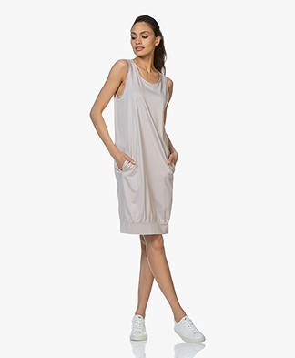 BRAEZ Sleeveless Jersey Dress - Platin