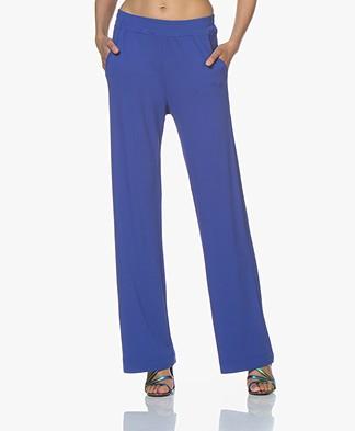 no man's land Crepe Jersey Pants - Royal Blue