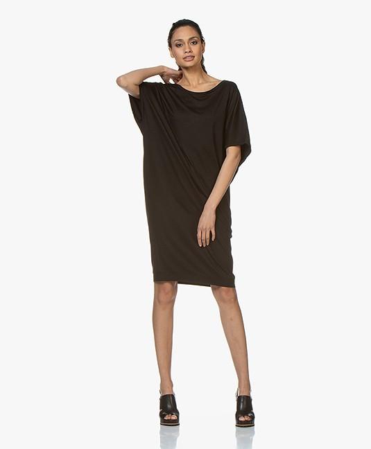 67a054e413cc2a BRAEZ Oversized Jersey Dress - Black - brz 202