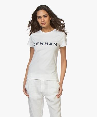 Denham Arrow Logo T-shirt - Wit/Indigo