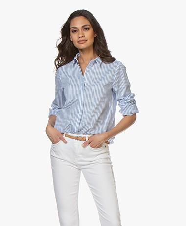 Josephine & Co Bar Striped Shirt - Light Blue/White