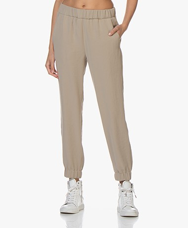 Drykorn Rase Loose-fit Twill Broek - Beige