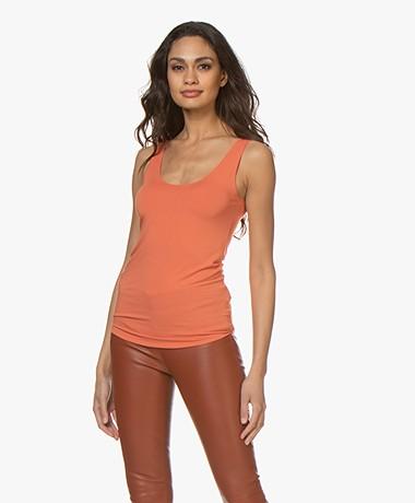 Majestic Filatures Abby Soft Touch Jersey Tanktop - Oranje
