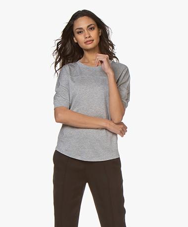 Filippa K Soft Sport Soft Tencel T-shirt - Lichtgrijs Mêlee