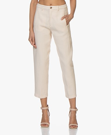 Closed Ludwig Structured Cotton Blend Pants - Peony