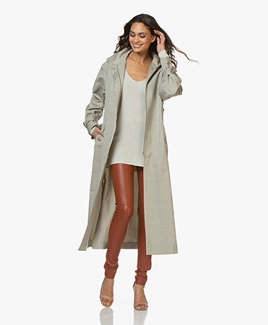 Filippa K Geneva Linen Blend Coat - Light Sage