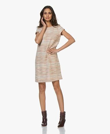 Josephine & Co Broos Tweed Dress - Light Salmon
