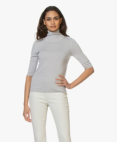 Filippa K Merino Elbow Sleeve Trui - Sterling Grey