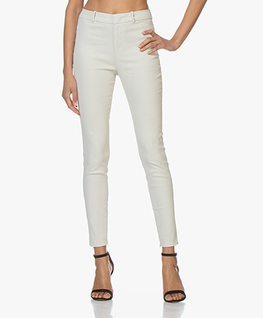 Drykorn Winch Skinny Pantalon met Coating - Off-white