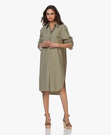 Joseph Axton Poplin Midi Shirt Dress - Sage