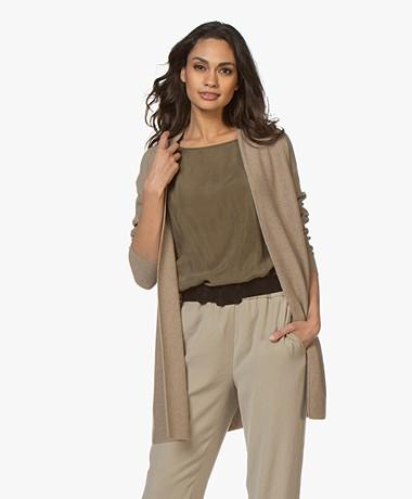 Drykorn Kanela Mid-length Open Cardigan - Taupe