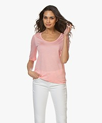 Filippa K Tencel Scoop Neck Tee - Taffy Pink