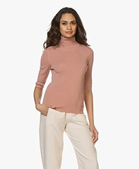 Filippa K Merino Elbow Sleeve Sweater - Antique Rose