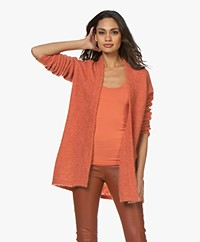 no man's land Mid-length Open Cardigan - Papaya