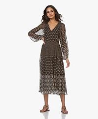 Vanessa Bruno Neroli Printed Chiffon Midi Dress - Black