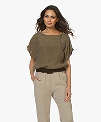 Drykorn Somia Cupro Blouse - Army