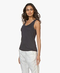 Majestic Filatures Hand Dyed Linen Tank Top - Marine