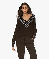 Rag & Bone Dianna V-Neck Merino Blend Sweater - Black