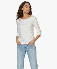 Josephine & Co Blythe Cropped Sleeve T-shirt - White