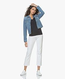 Filippa K Stella Cropped Coloured Denim Jeans - White