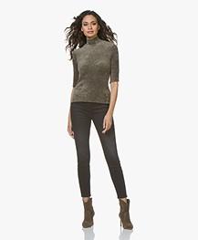 Current/Elliott The High Waist Stiletto Skinny Jeans - Zwart 1 Yearn Worn